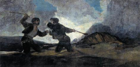 Francisco De Goya Y Lucientes   Duel With Cudgels   WGA10102