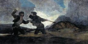 Francisco de Goya y Lucientes - Duel with Cudgels
